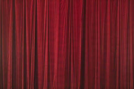 Red curtain in theater background