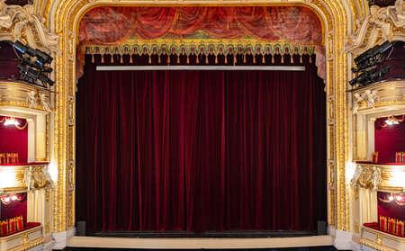 Lviv, Ukraine - February 28, 2021: Lviv opera house interior