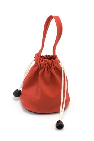 sac: Red sac, gift, surprise, insulated on white background Stock Photo