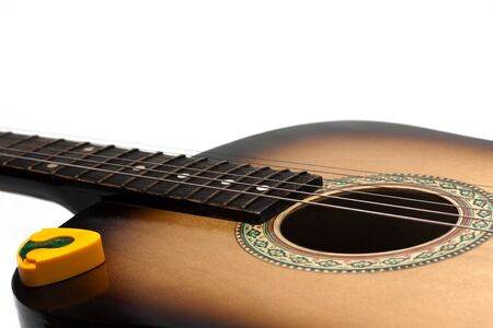 Guitar, strings insulated on white background Stock Photo - 4448756