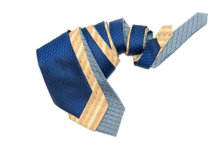 convolute: Male ties convolute and are insulated on white background