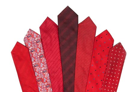 Red and crimson ties on white background Stock Photo - 5122279