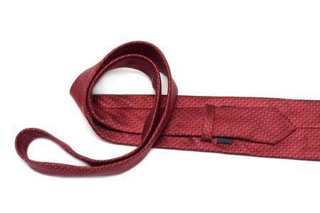 Crimson tie convolute insulated on white background Stock Photo - 5192506