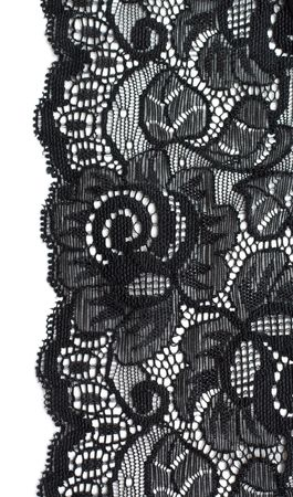Decorative lace with pattern on white background photo