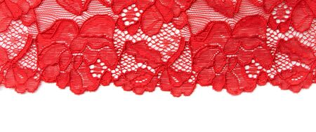 insulated: Red lace insulated on black background