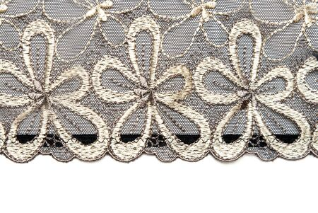 Lace with rose colour insulated on white background photo