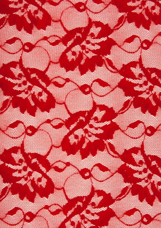 Background from red lace with pattern from flower Stock Photo - 7591873