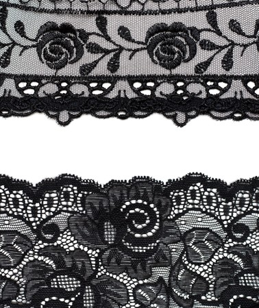 black lace: Collage lace with pattern in the manner of flower. Picture is formed from several photographies