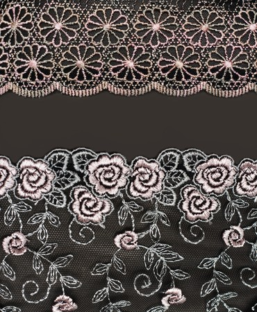 Collage lace with pattern in the manner of flower. Picture is formed from several photographies photo