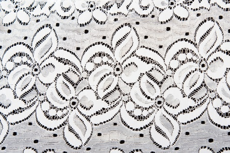 White lace with pattern in the manner of flower by background Stock Photo - 8318996