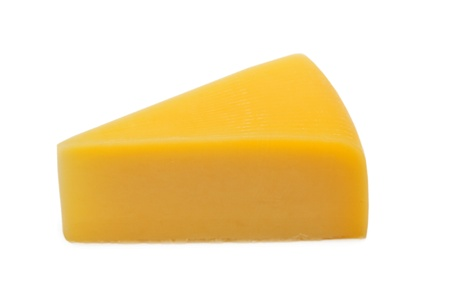 cheez: Piece of cheese Isolated on white background