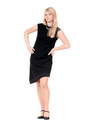 beautiful young girl in an evening dress Stock Photo - 8683991