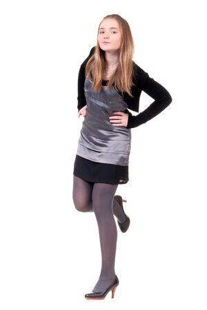 beautiful young girl in an evening dress Stock Photo - 8684048