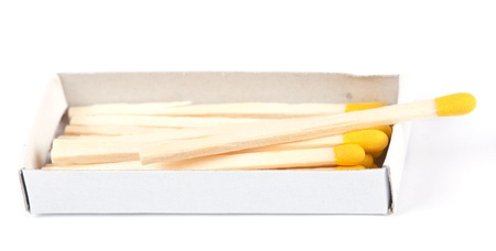 open boxes of wooden matches and yellow-head photo