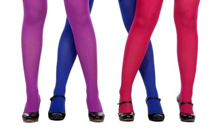 medias mujer: piernas femeninas en tsvenyh de medias y zapatos de tac�n altos