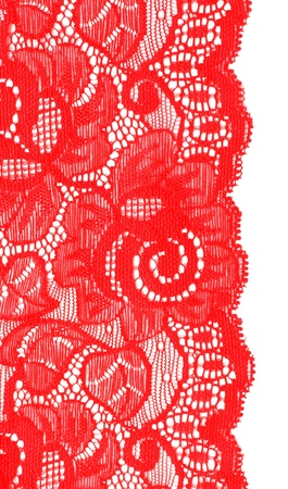 Decorative lace with pattern on white background Stock Photo - 8906016