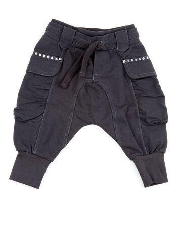 cotton panties: dark gray cotton panties isolated on white background