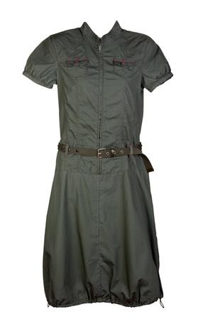 khaki: Womens dress khaki isolated on a white background