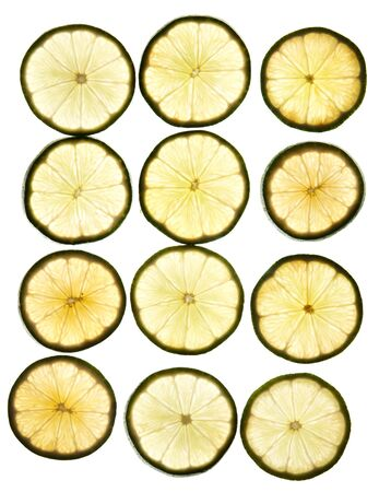 round slices lime laid on a background clearance Stock Photo - 10120554