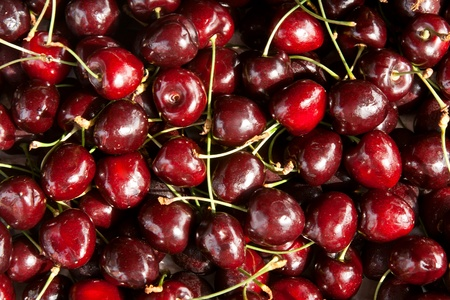 background of ripe black cherry delicious