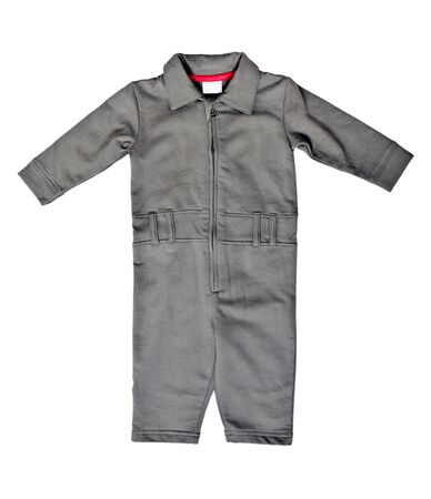 coverall: Gray romper isolated on a white background