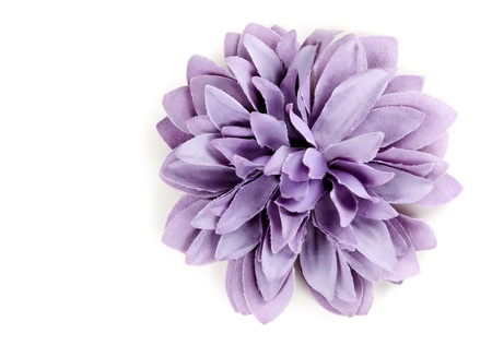 cotton flower: purple flower from tissue isolated on a white background