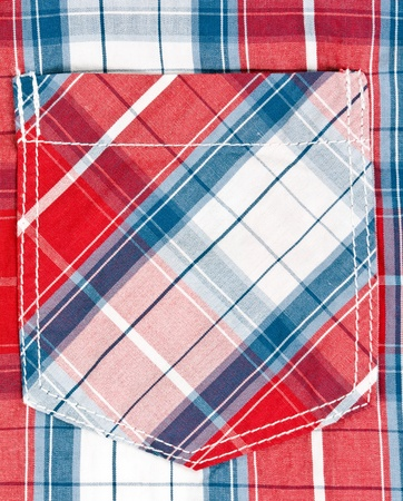 red and blue checkered background pocket photo