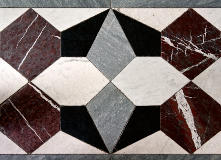 tile flooring: geometric patterns on the marble floor, background