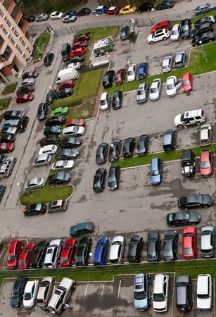View of the parking lot with 16 floors photo