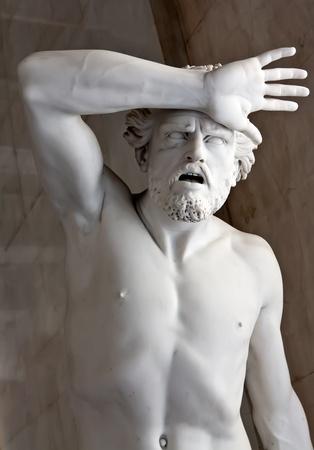 man vrouw symbool: een marmeren standbeeld in het Hermitage Museum. St. Pterburg, Rusland