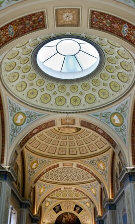 painted ceiling at the Hermitage, St. Petersburg, Russia