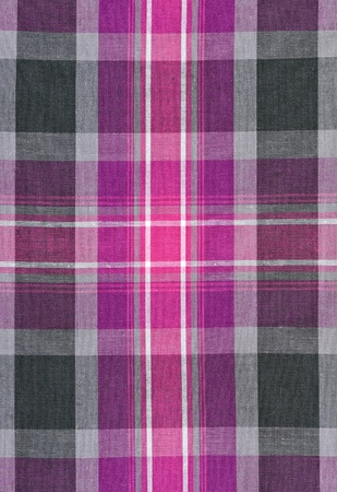 red and gray plaid fabric background photo