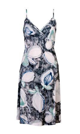 Womens summer dress isolated on white background photo