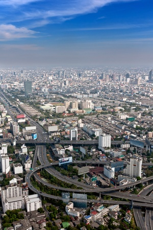 view of the Bangkok daily with Skyscraper Stock Photo