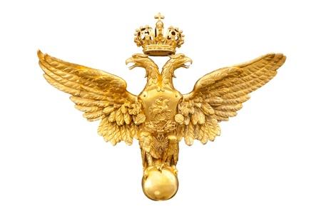 aigle royal: or double aigle isol� sur un fond blanc