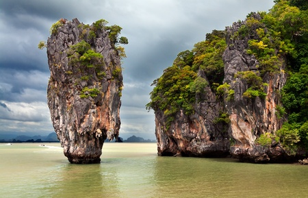 stone exotic James Bond Island in Thailand photo