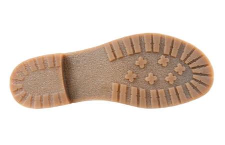 Beige sole isolated on white background photo