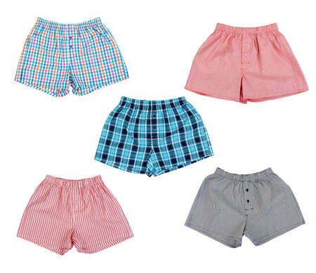 underwear: Un collage de ropa interior masculina aisladas sobre fondo blanco. La imagen se compone de varias im�genes.
