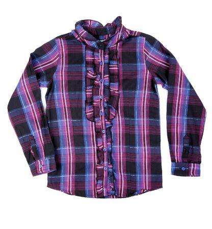 Checkered shirt isolated on white background photo