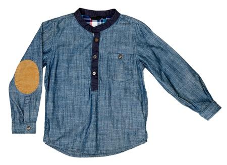 denim shirt isolated on white background photo