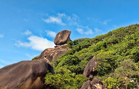 Landscape, Similan Islands, rocks against the sea and sky photo