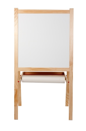 Children's drawing board on a white background photo