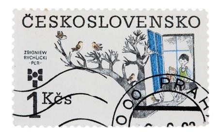 Czechoslovakia - CIRCA 1983: A stamp printed in Czechoslovakia, shows Ceskoslovensko zbigniew rychlicki, circa 1983 photo
