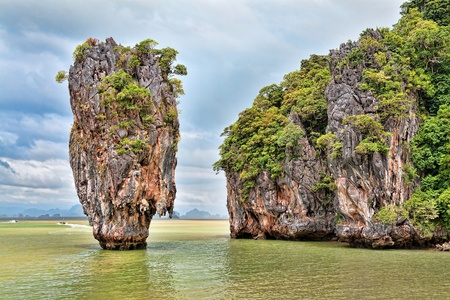 Landscape James Bond Island in Thailand photo