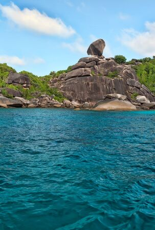Landscape, Similan Islands, rocks against the sea and sky Stock Photo - 13229789
