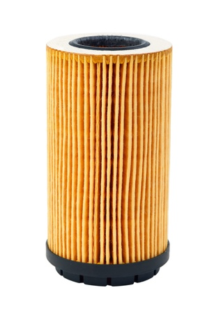new filter: car oil filter isolated on white background