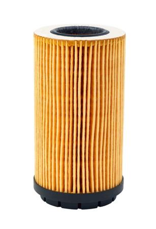 papel filtro: filtro de aceite de coche aislado sobre fondo blanco