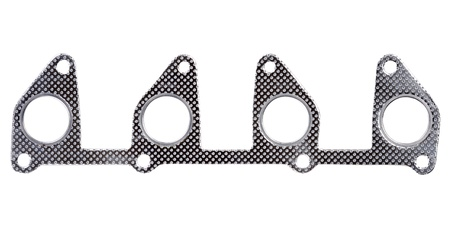 gasket: Original steel automotive exhaust manifold gasket of the two liter engine