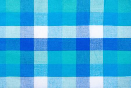 Fabric background of green, white and blue photo