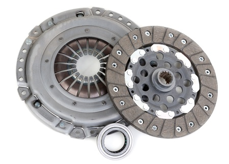 Spare parts of motor vehicle forming clutch plate and disc photo